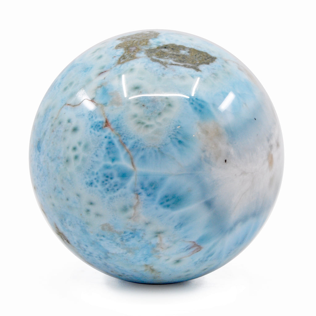 Larimar 2.78 inch 1.16 lbs Natural Crystal Polished Sphere - Dominican Republic