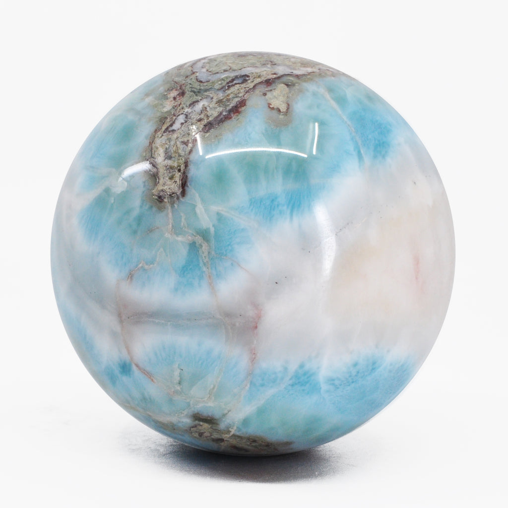 Larimar 2.65 inch 1.01 lbs Natural Crystal Polished Sphere - Dominican Republic