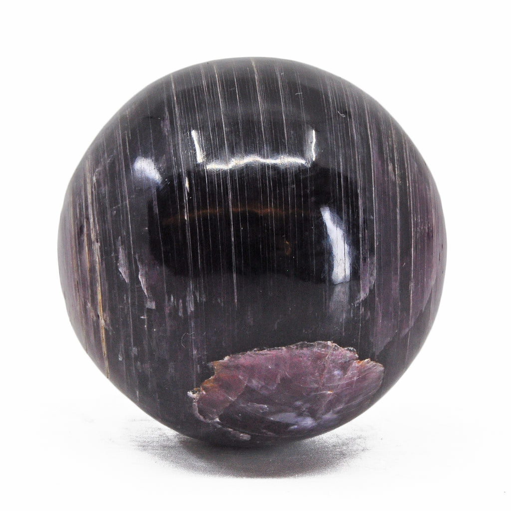 Lepidolite 1.81 inch 128 grams Natural Crystal Polished Sphere - India