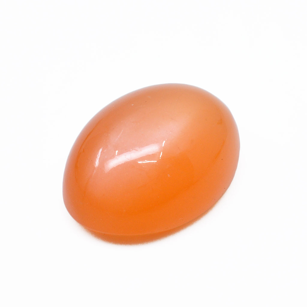Orange Moonstone 17.96 mm 12.91 carats Polished Oval Cabochon