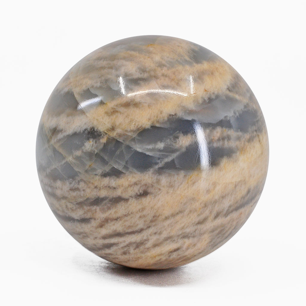 Beige Moonstone 2.6 inch 383 grams Natural Crystal Sphere - India