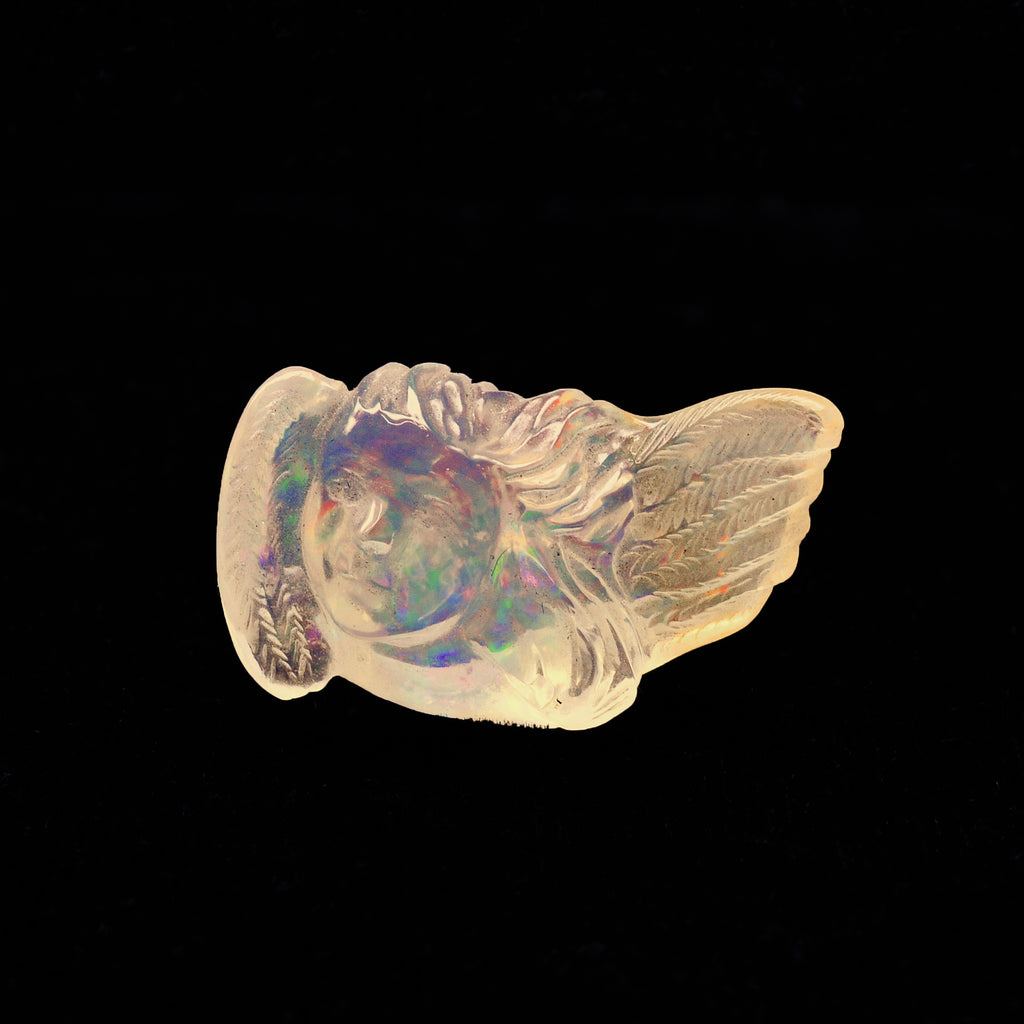Opal Angel Gemstone Carving