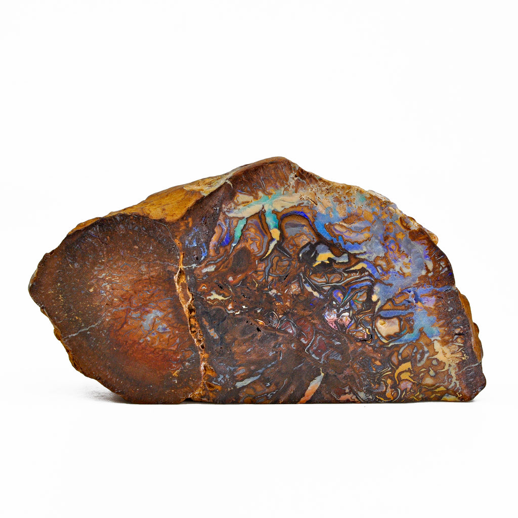Boulder Opal 4.57 inch 268 grams in Matrix Partial Polished Natural Crystal - Australia
