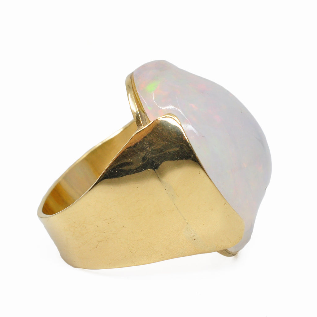 Opal 23.46 mm 17.19 ct Freeform 18K Handcrafted Gemstone Ring