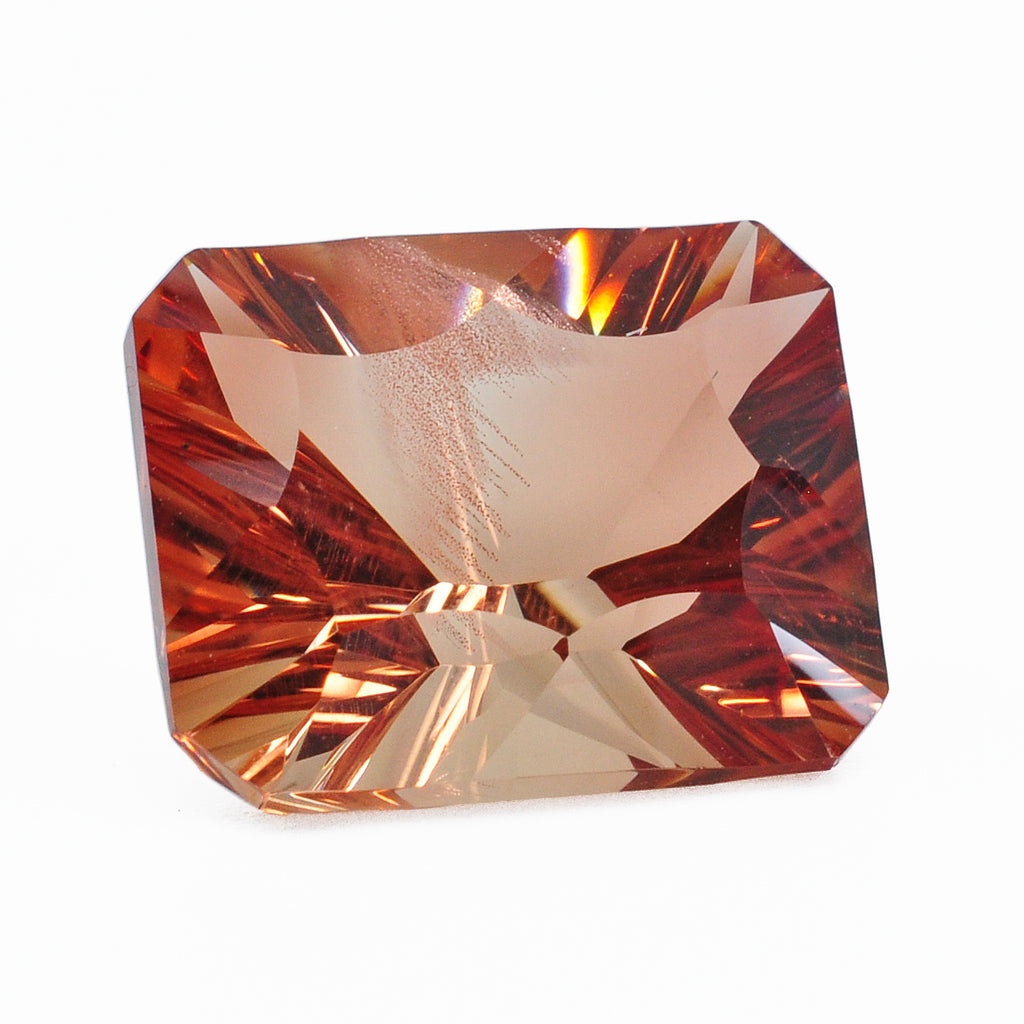 Oregon Sunstone 14.54 mm 9.88 carats Faceted Rectangle Gemstone