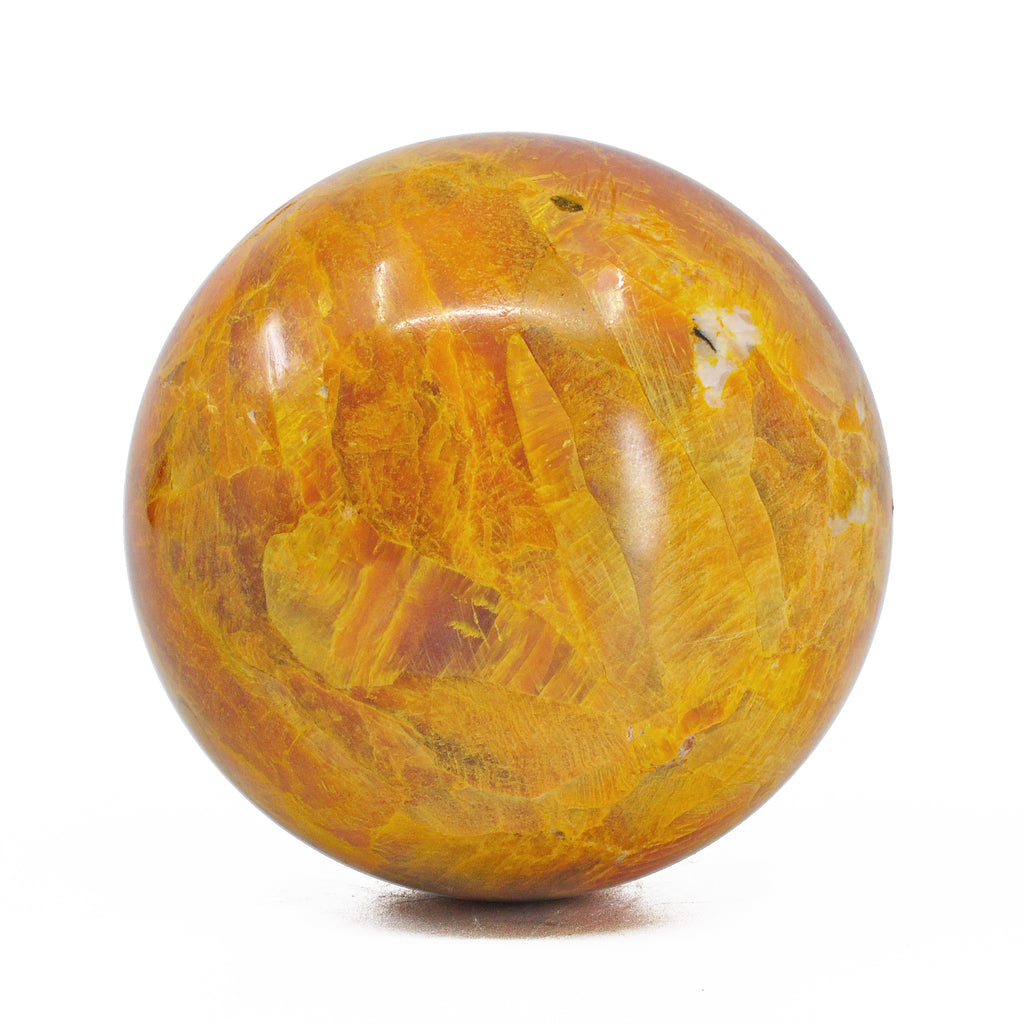 Orpiment 2.83 inch 655 grams Natural Crystal Polished Sphere - East Siberia, Russia