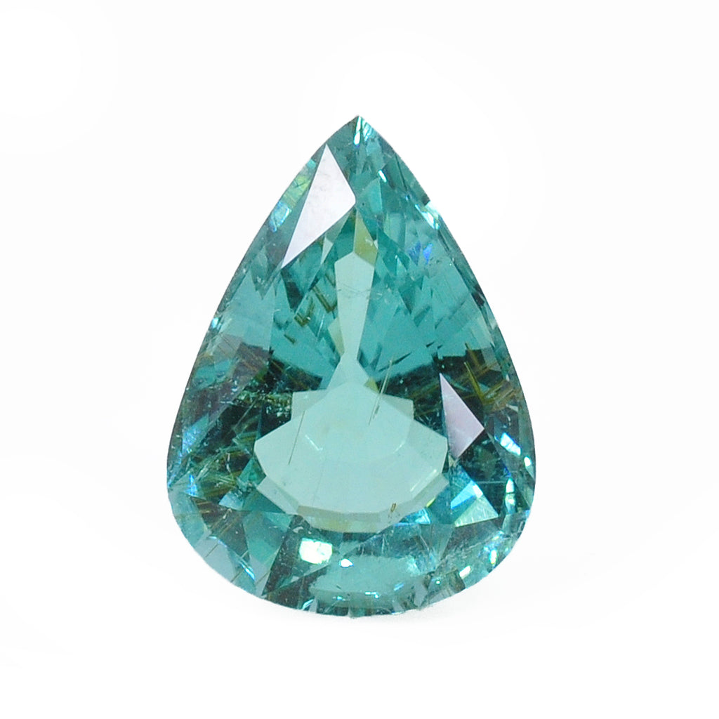 "Magnificent ""Paraiba"" Tourmaline 20.27 mm 17.35 carats Faceted Teardrop Gemstone - Mozambique"