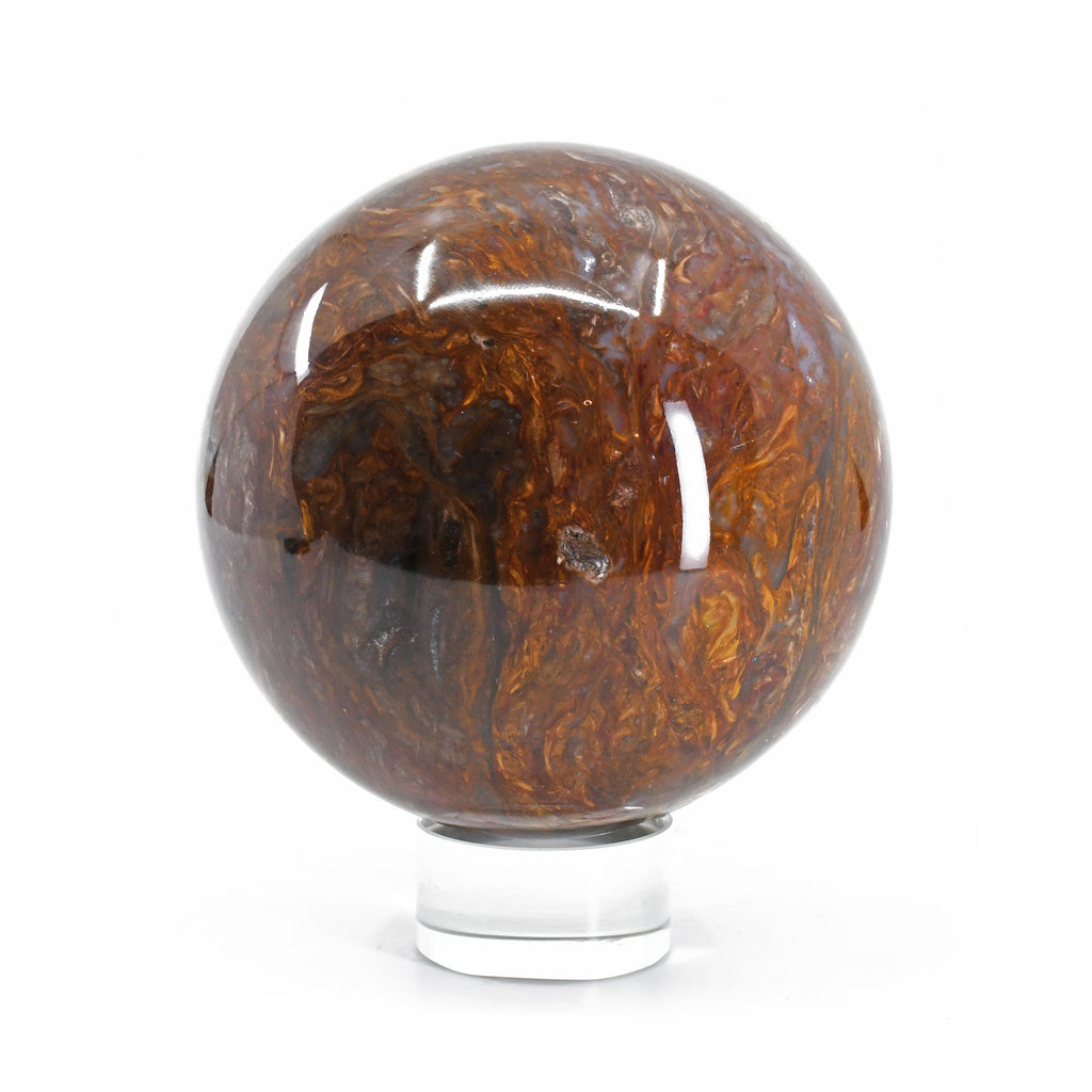 Golden Pietersite 3.87 inch 3.05 lb Natural Crystal Sphere - South Africa