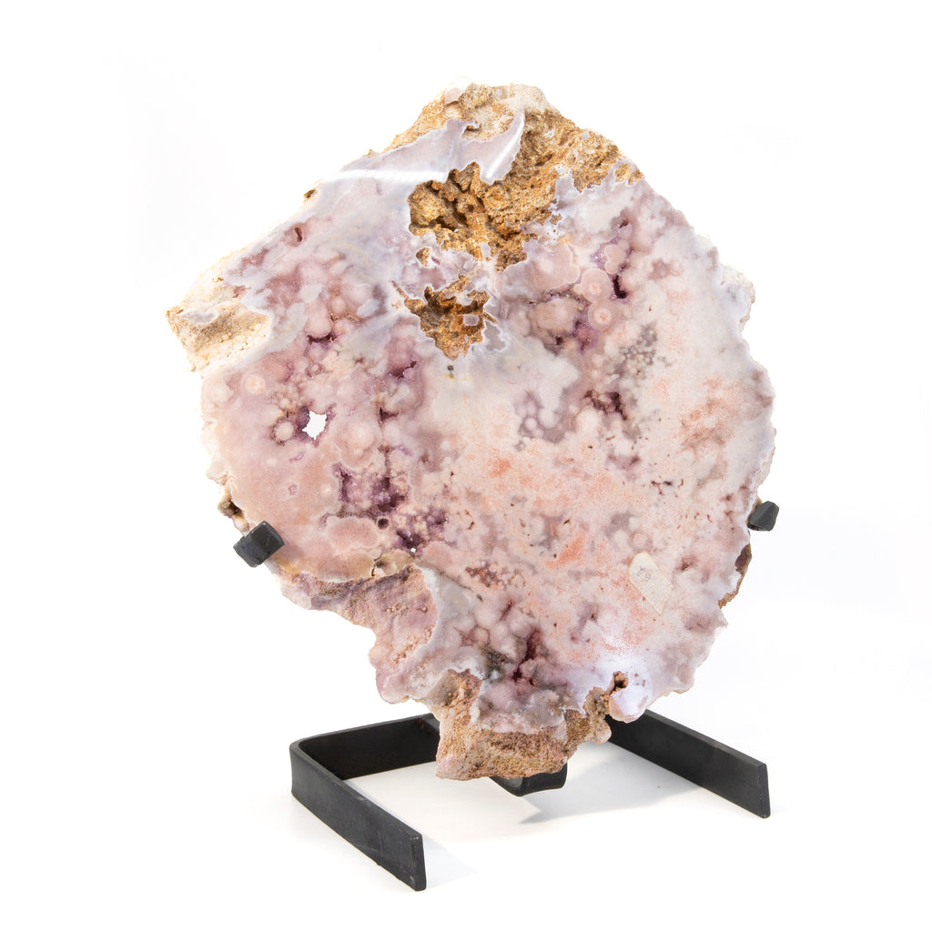 Pink Amethyst 15.5 inch Partial Polished Crystal with Stand - Brazil