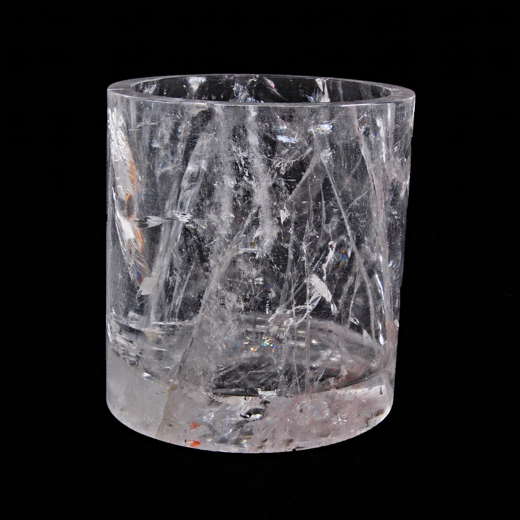 Beautiful Quartz 3.52 inch 1.1 lbs Natural Crystal Carved Cup