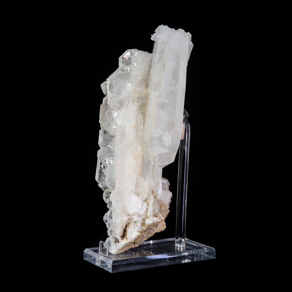 Clear Quartz 14 inch 11.6 lb Exceptional Faden Crystal Cluster - Pakistan