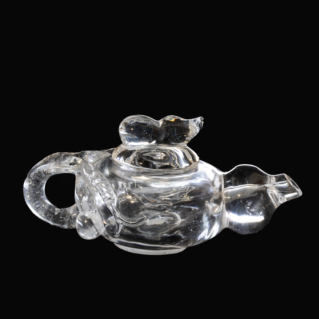 Quartz 6.15 inch Carved Decorative Tea Pot