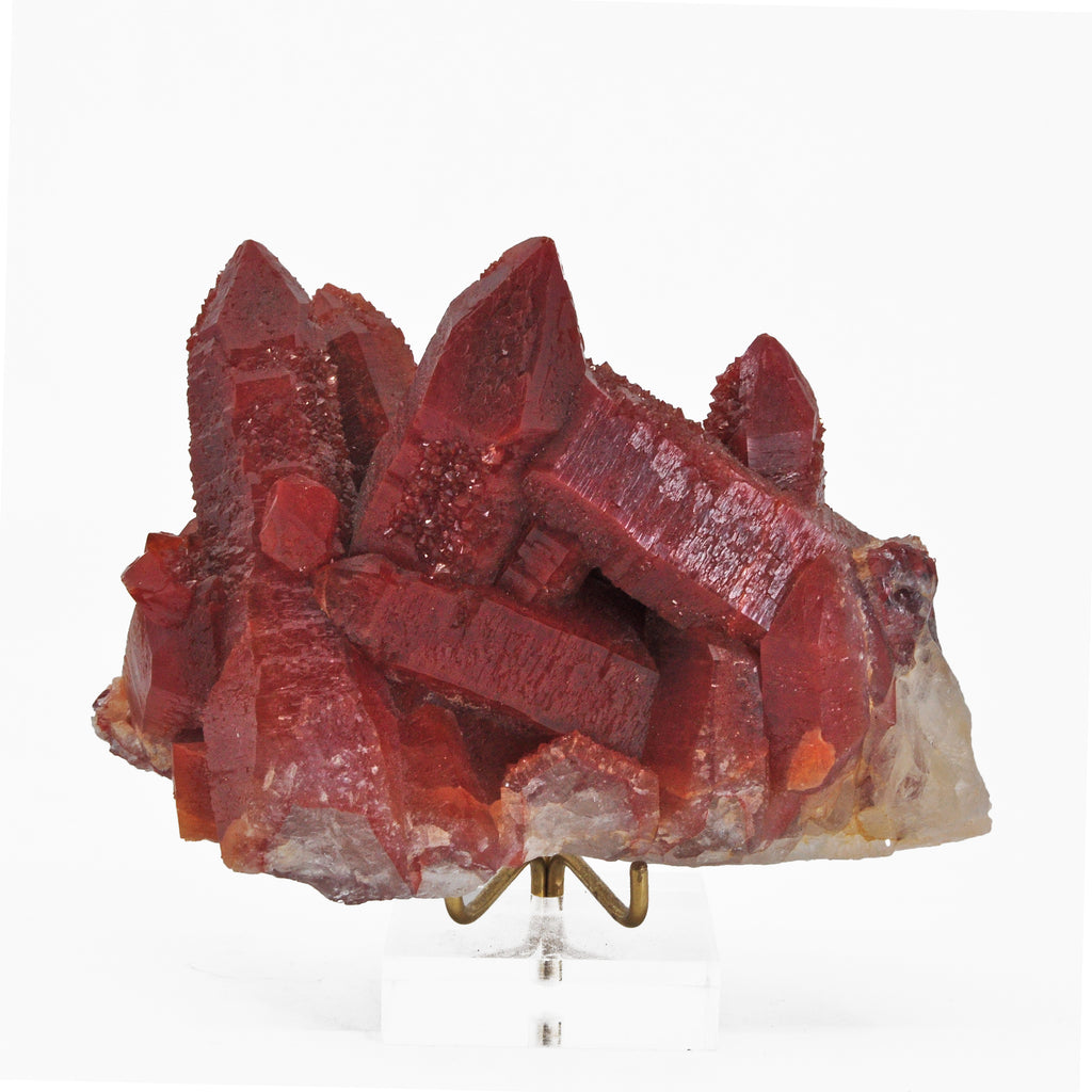 Red Quartz 4.67 inch .96 lb Natural Crystal Cluster - Morocco