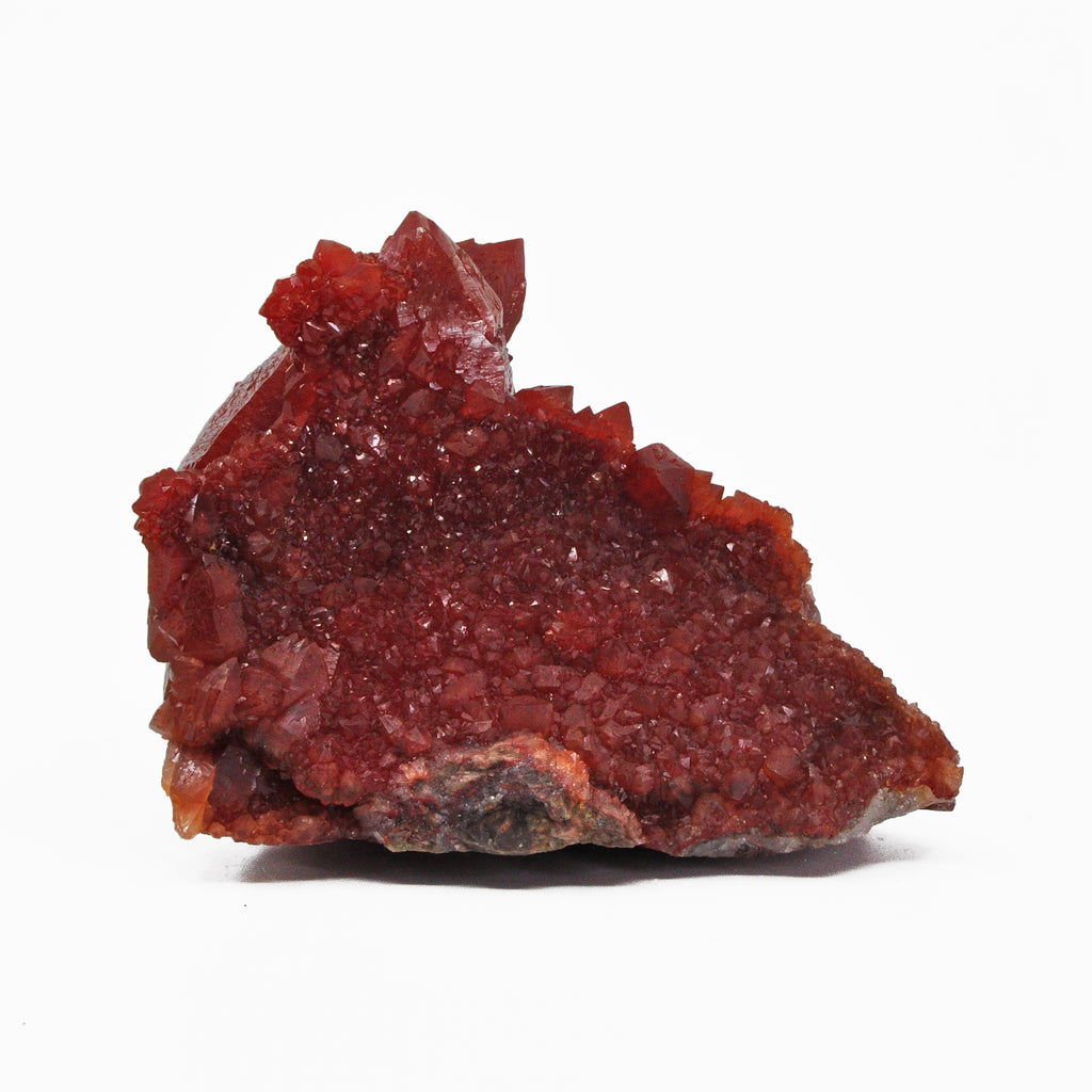 Red Quartz 5 inch 1.45 lb Natural Crystal Cluster - Morocco