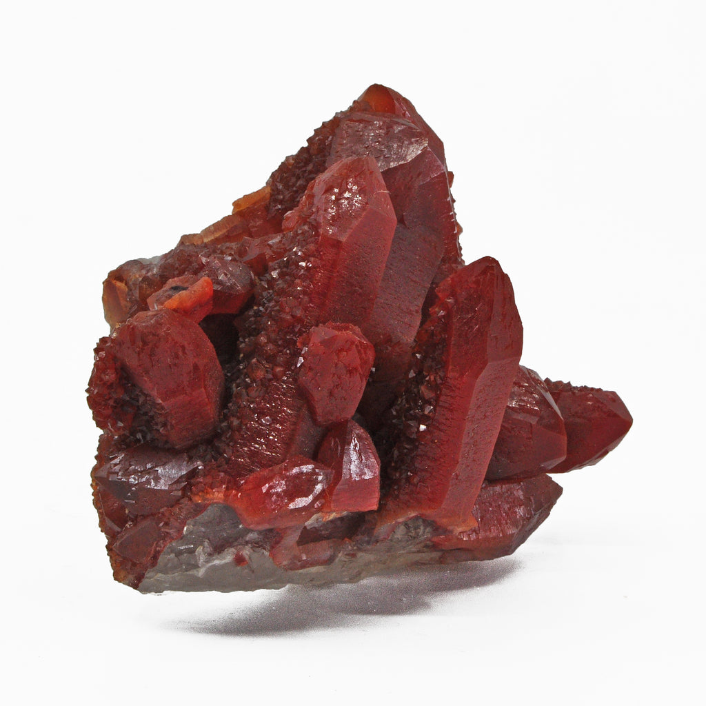 Red Quartz 4 inch .78 lb Natural Crystal Cluster - Morocco