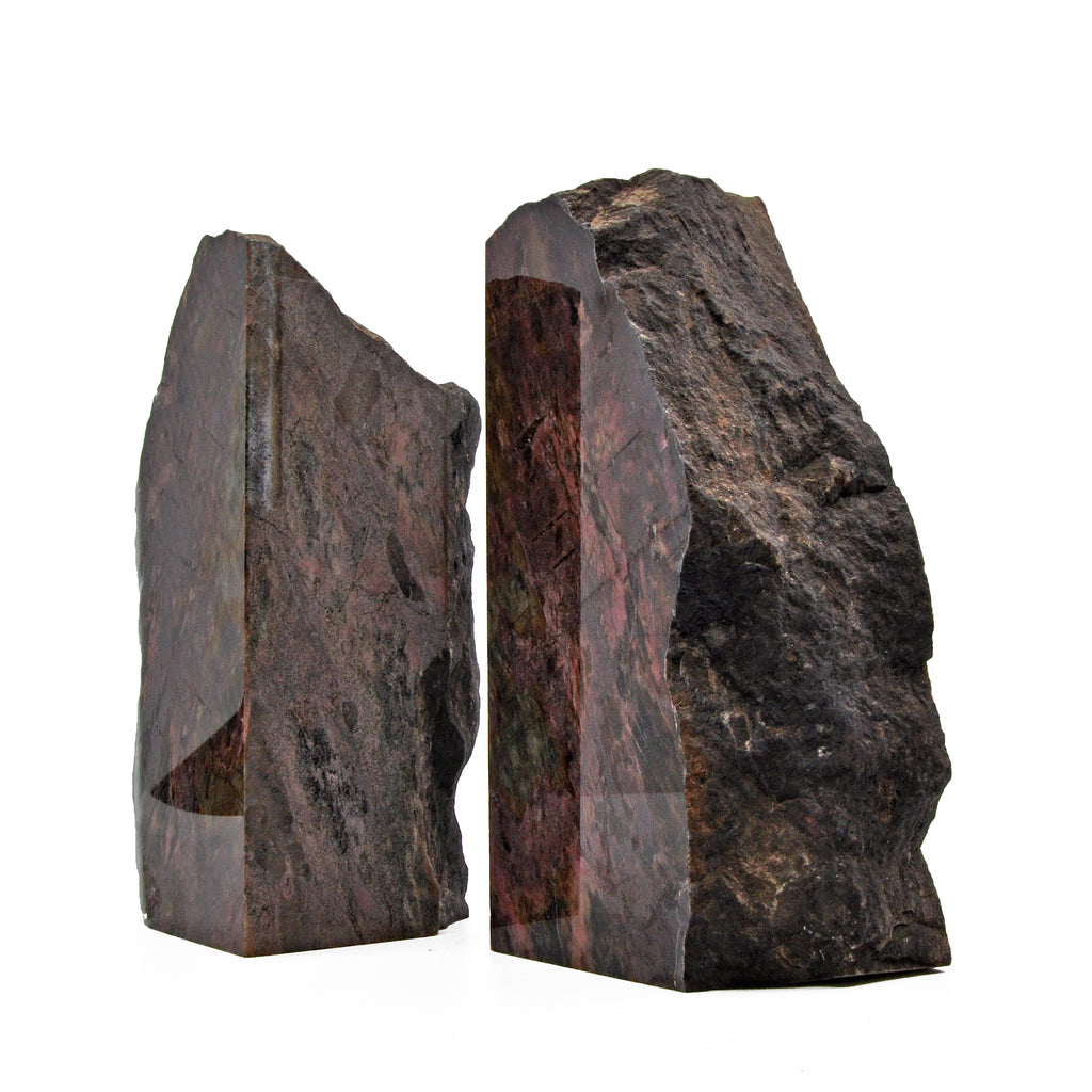 Rhodonite 6.2 inch 4 lbs Partial Polished Bookends - Australia