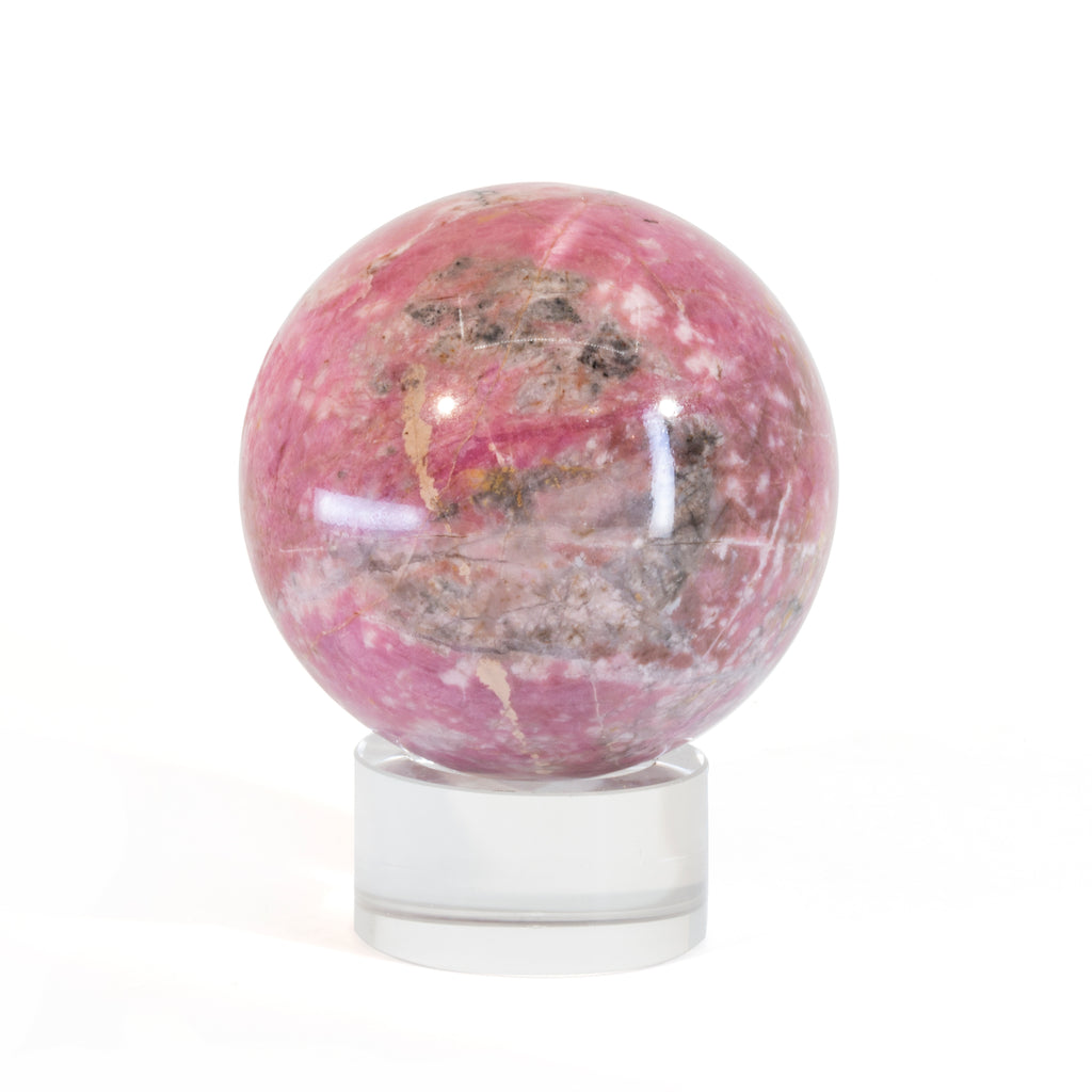 Rhodonite 2.4 inch 1.05lb Polished Crystal Sphere - Russia
