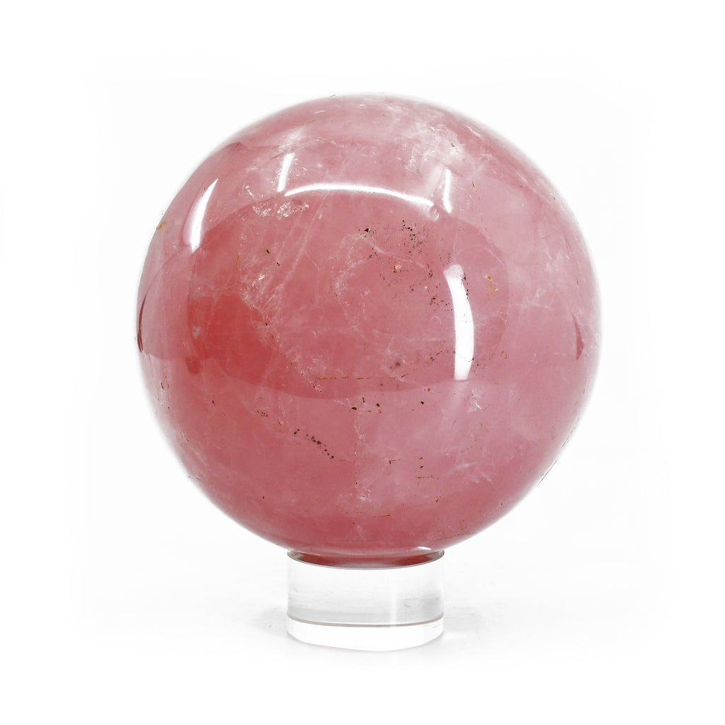 Rose Quartz 4.29 inch 4.13 lbs Natural Crystal Polished Sphere - Brazil
