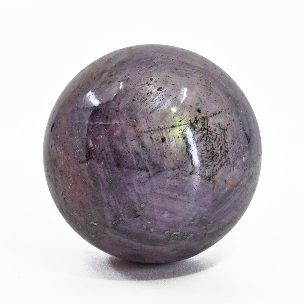Star Sapphire 1.4 inch 94 grams Natural Crystal Polished Sphere - India