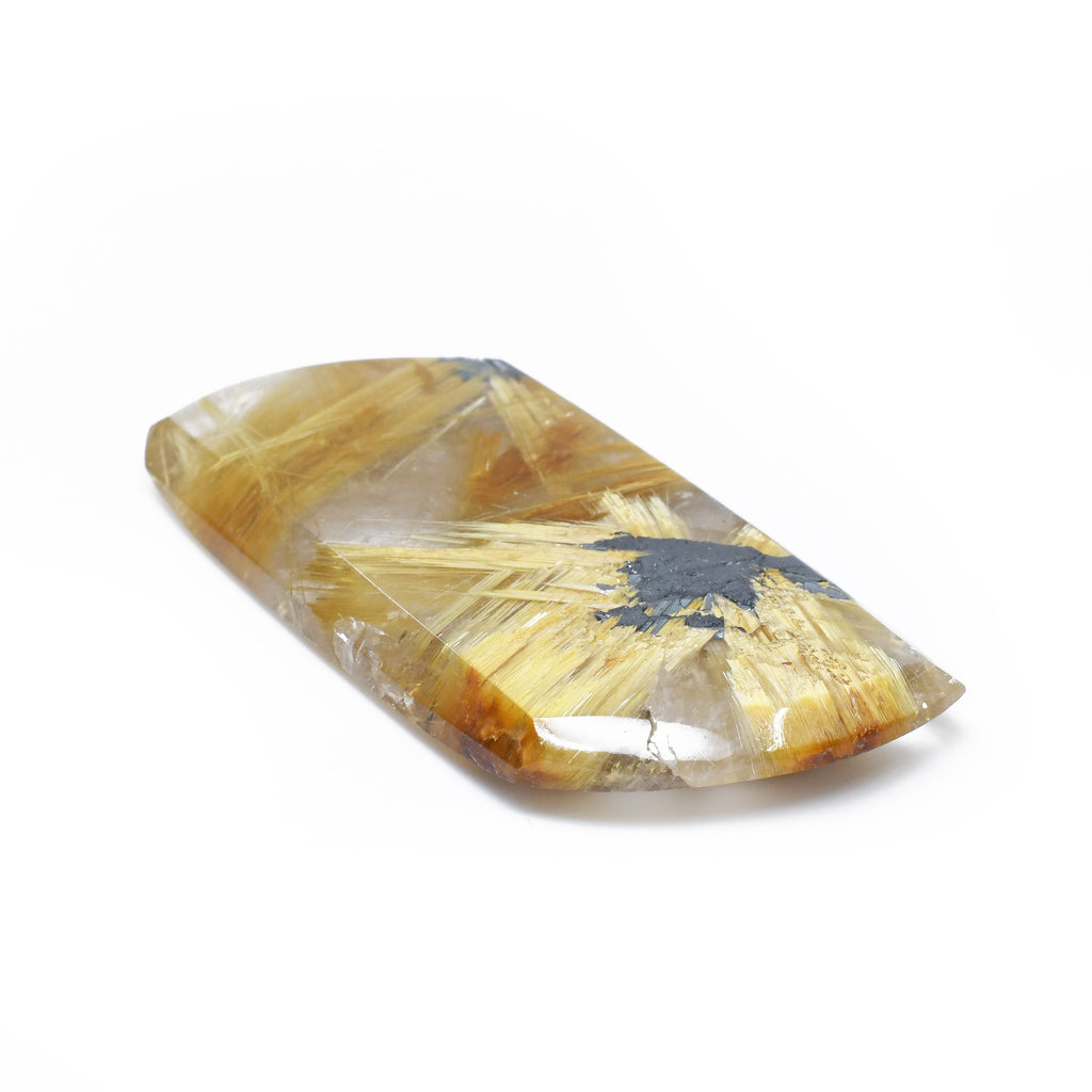 Star Rutilated Quartz 50.4 mm 86.5 carats Polished Cabochon