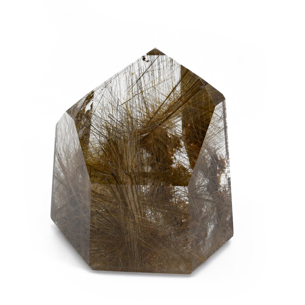 Rutilated Smoky Quartz 1.74 inch 83.1 grams Polished Crystal Point - Brazil