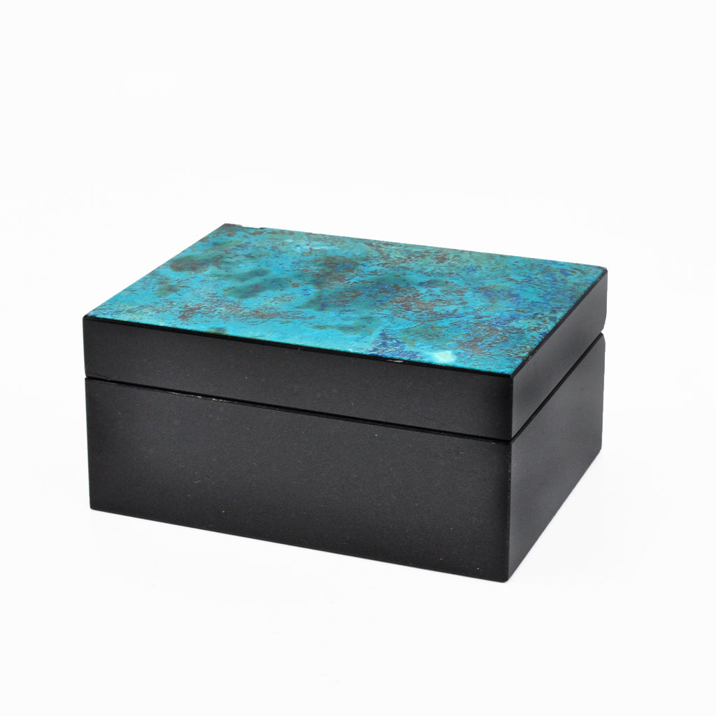 Shattuckite 2.85 inch 0.4 lbs Natural Crystal Carved Box
