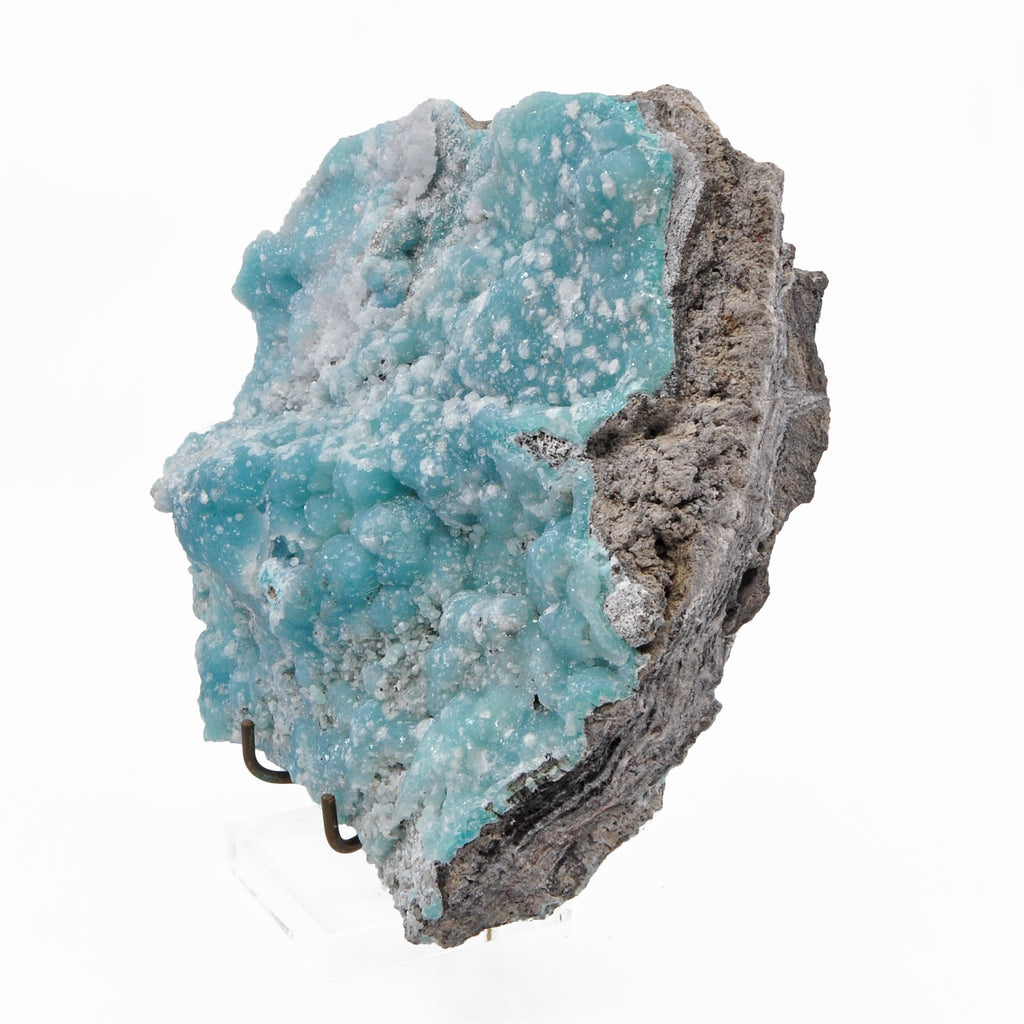 Druzy Blue Smithsonite 7.0 inch 5.40 lbs Natural Crystal Specimen - Sinaloa, Mexico