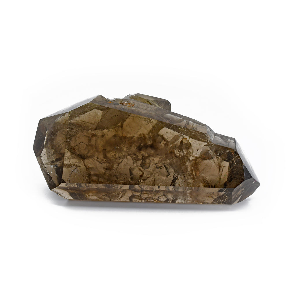 Rutilated Smoky Quartz 3.76 inch 179 grams Partial Polished Crystal - Brazil