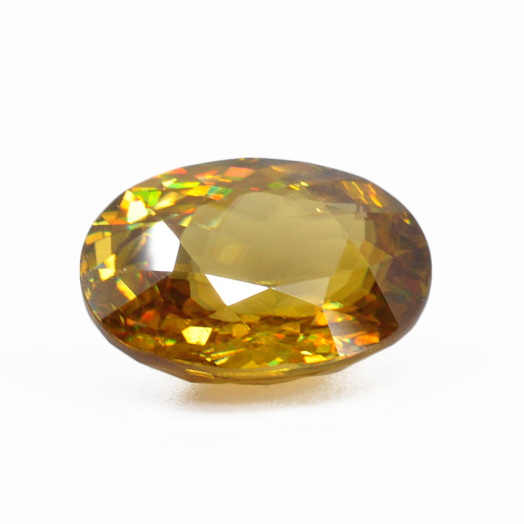 Sphene 14.27 mm 8.42 carats Faceted Oval Natural Gemstone