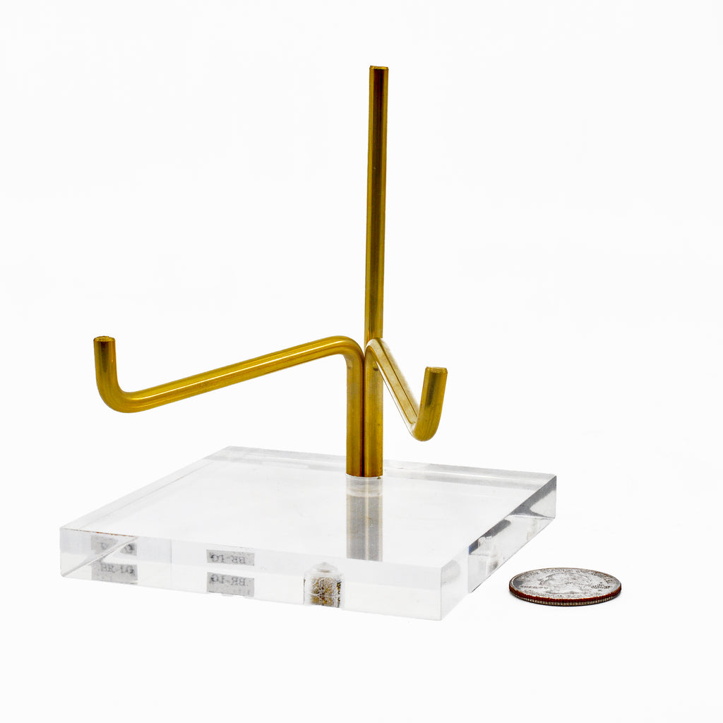 Brass and Lucite Large Adjustable Arm Stand