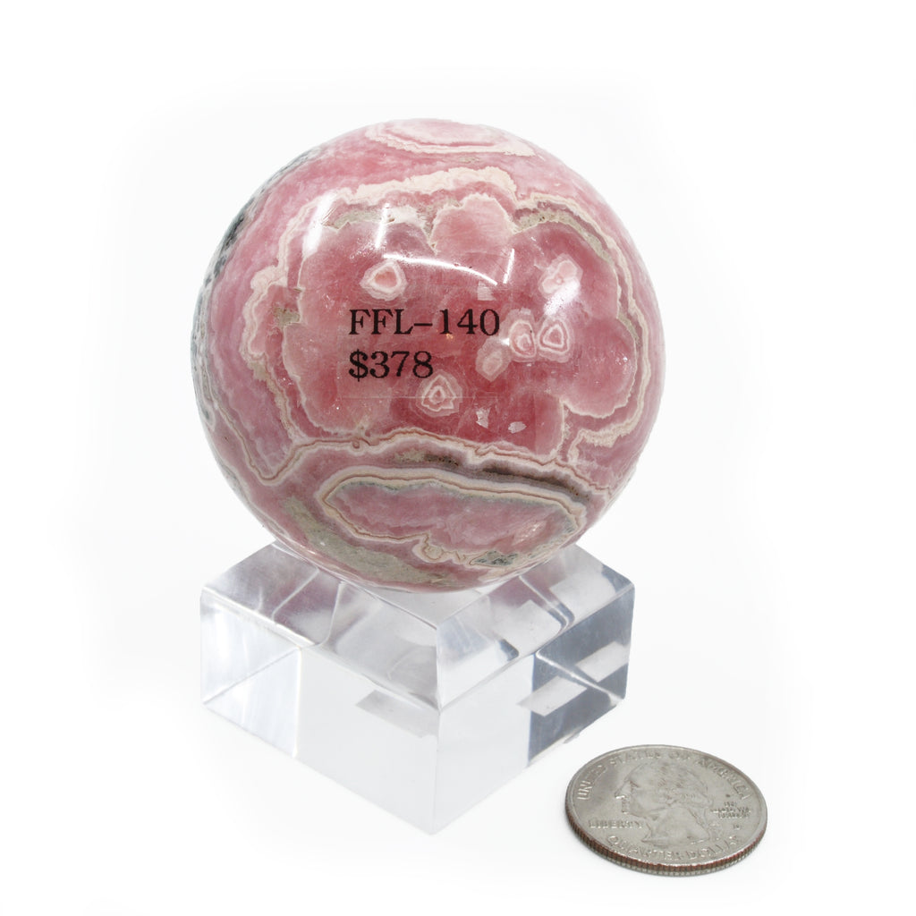 Square 1.5 inch Lucite Pedestal Sphere Stand