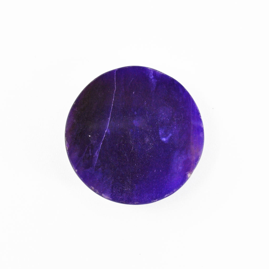 Sugilite 19.71 mm 17.23 carats Natural Crystal Polished Round Cabochon - South Africa