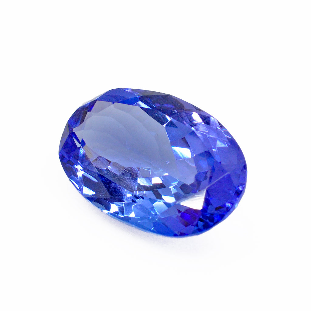 Tanzanite 13.23 mm 4.26 carats Faceted Oval Brilliant Gemstone - Tanzania
