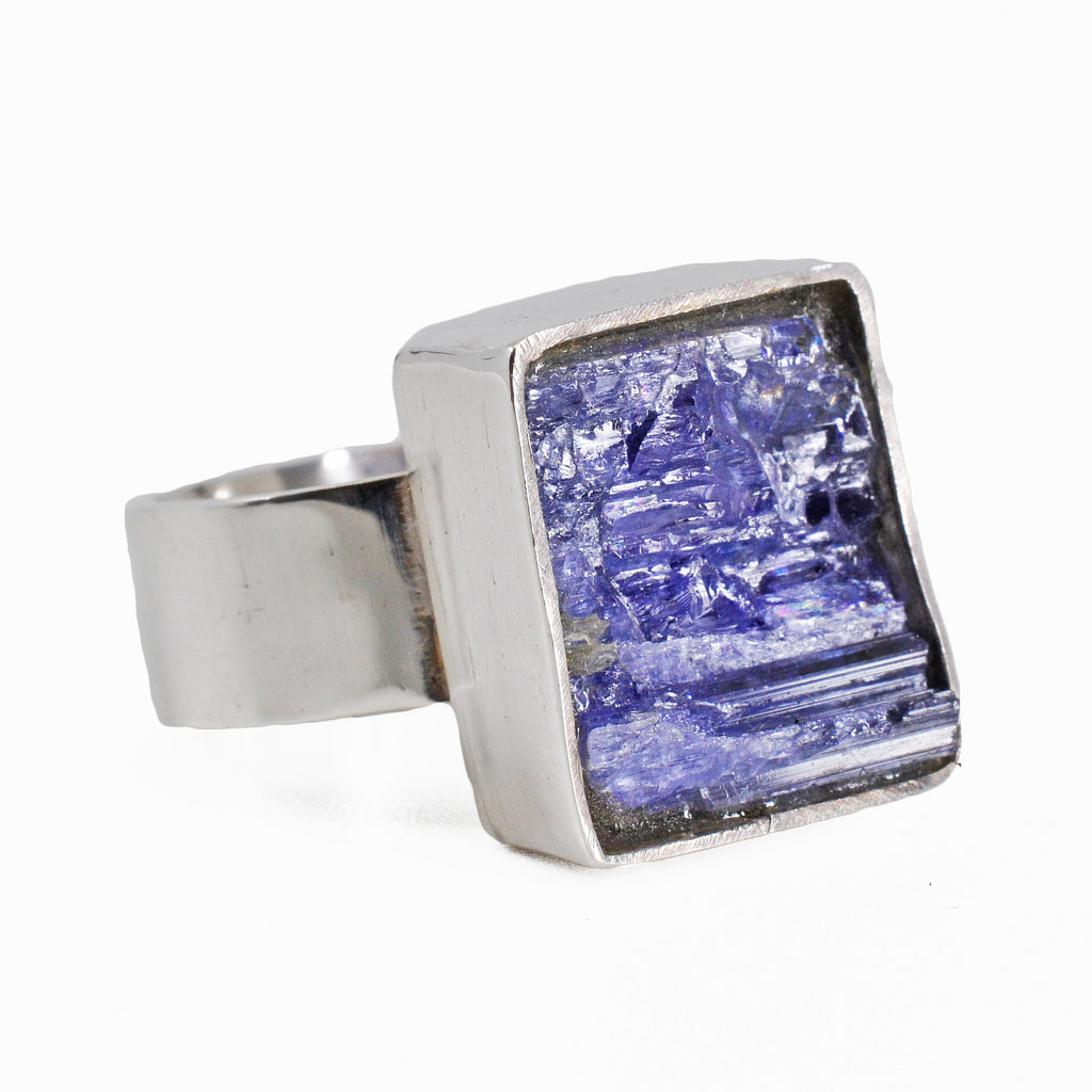 Rugged Tanzanite 12.89ct Handcrafted Sterling Silver Gemstone Ring