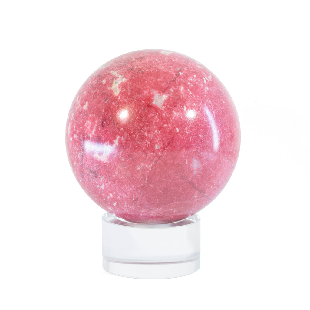 Thulite 2.6 inch 1.08lb Polished Crystal Sphere - India