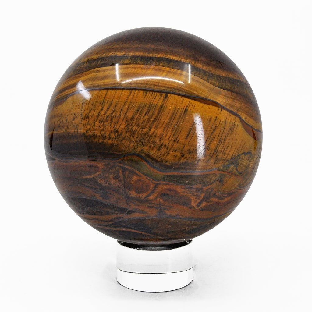 Tiger's Eye with Hematite 3.99 inch 3.62 lb Natural Crystal Sphere - South Africa