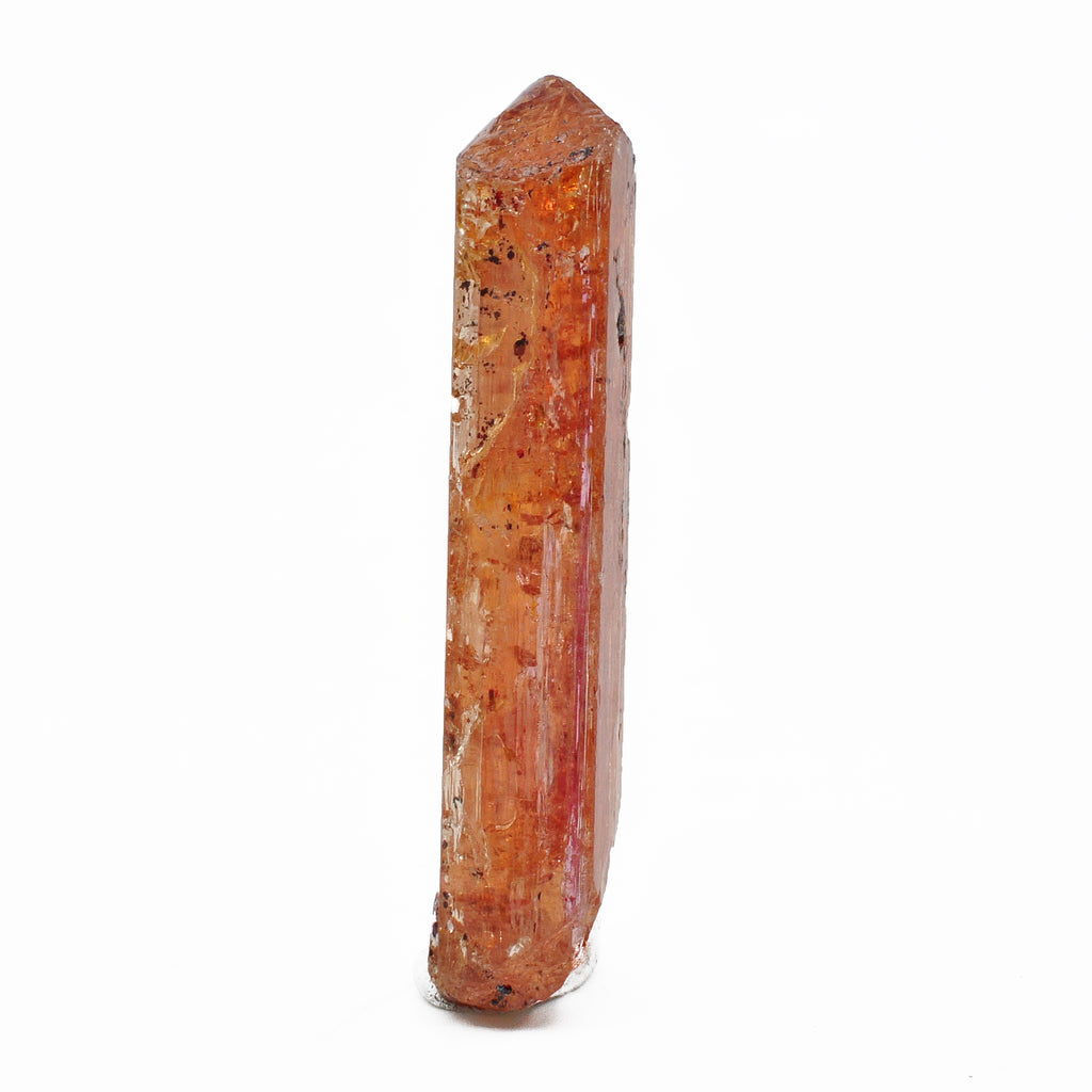 """Red"" Imperial Topaz 1.76 inch 11.1 gram Natural Gem Crystal - Brazil"