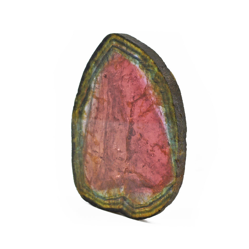 Watermelon Liddicoatite Tourmaline 2.53 inch 37.4 grams Natural Gem Crystal Slice - Madagascar