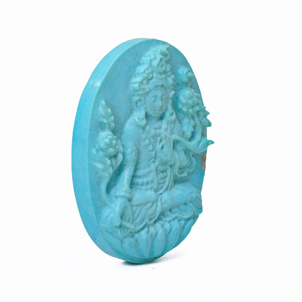 Turquoise Tara Gemstone Crystal Carving