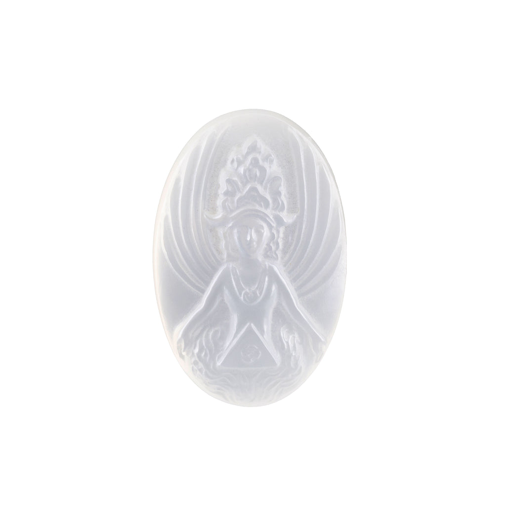 Moonstone 31.14 carat Hand Carved Light Goddess Gemstone