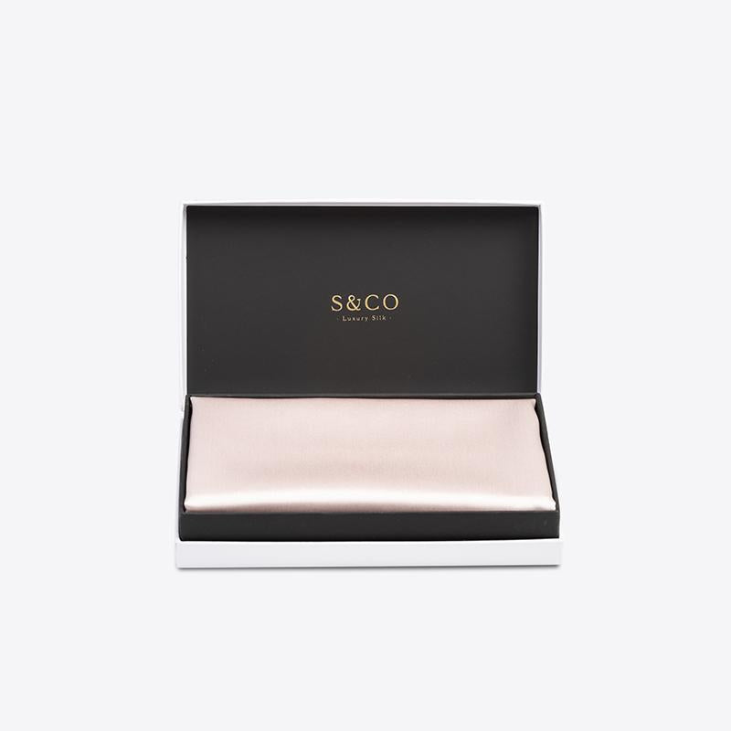 S & Co Pink Silk Pillowcase