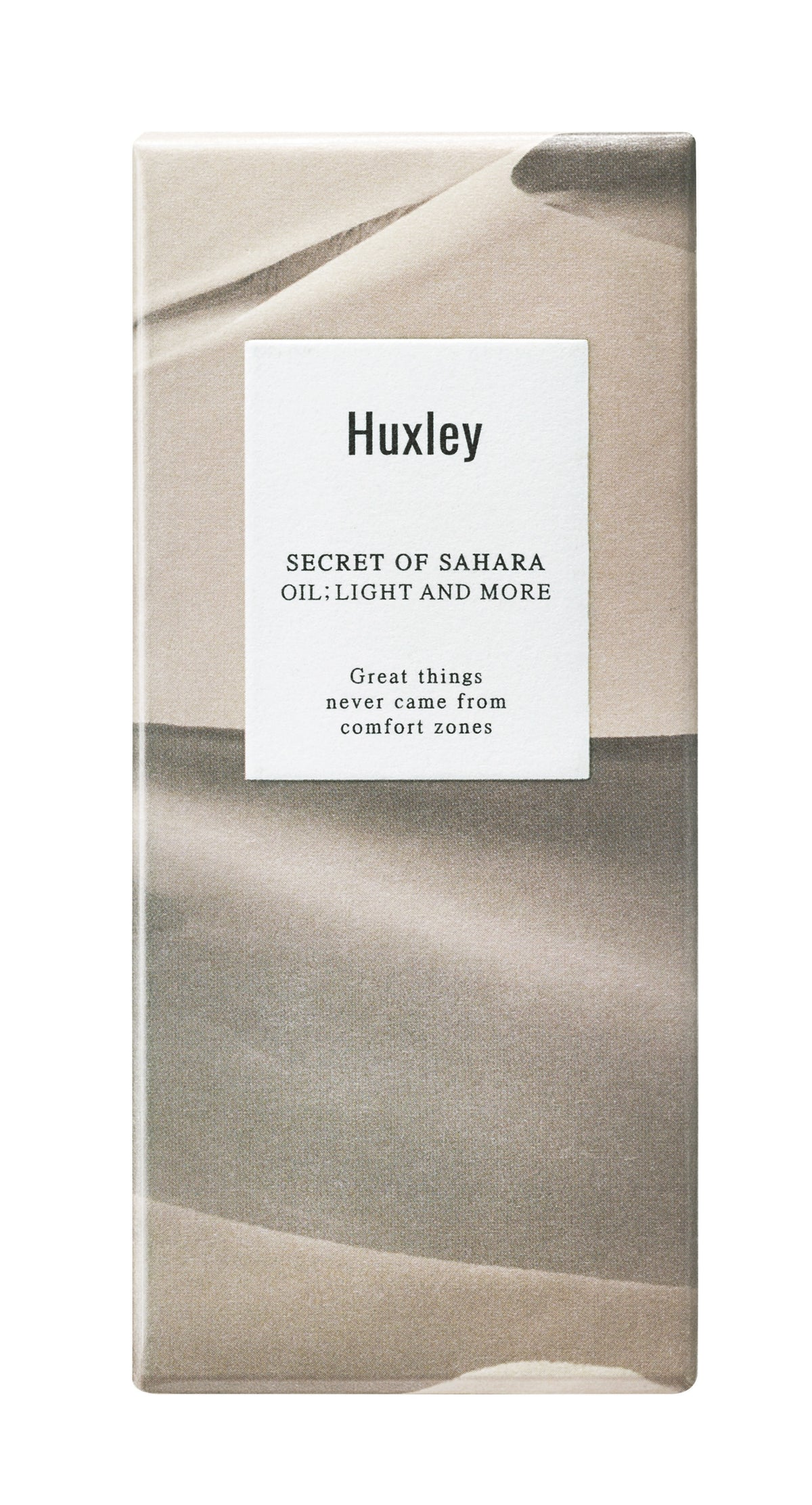 Huxley Oil:Light and More packaging