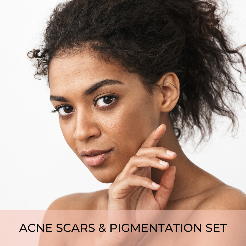 Acne scars and pigmentation set
