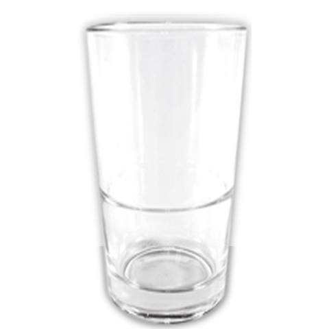 Stackable beverage glass 397ml