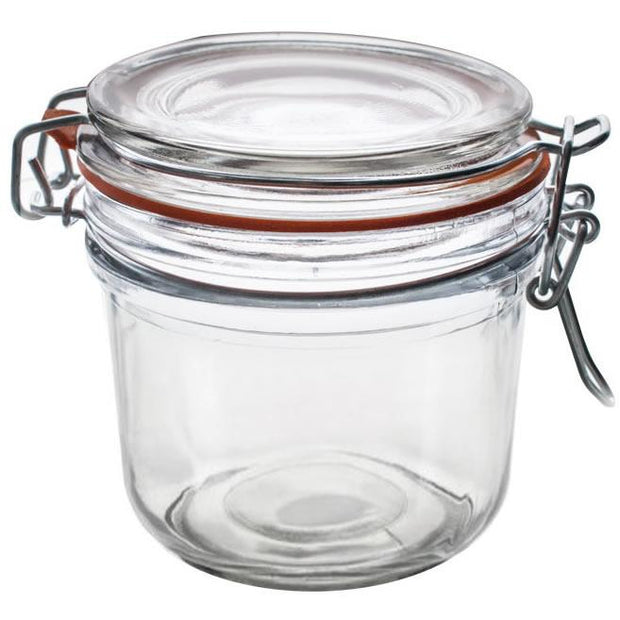 Round glass jar with clip lid 200ml