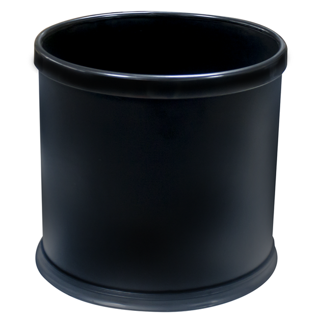 Oval indoor bin with removable ring for liner black 28cm