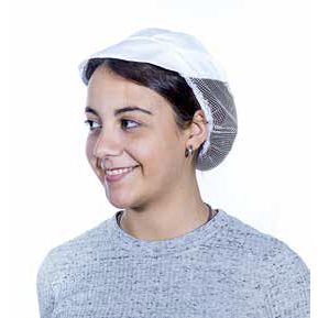 Kitchen cap with visor and net