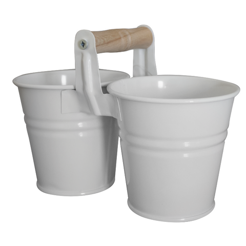 Two mini buckets with a handle 10cm