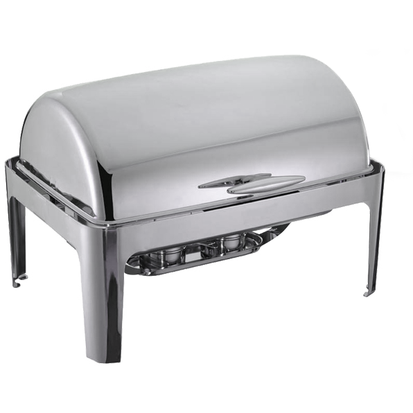 Rectangular roll top chafing dish 1/1