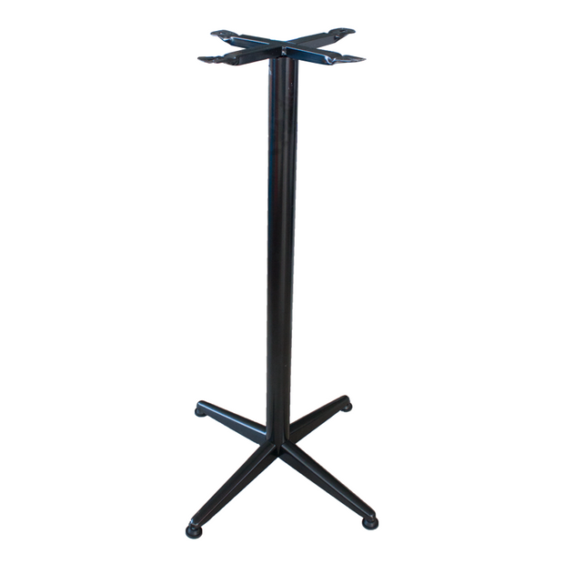 Aluminium stand for bar table Black